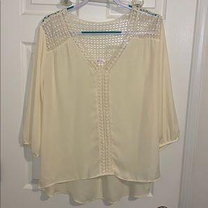 Xhilaration cream colored blouse